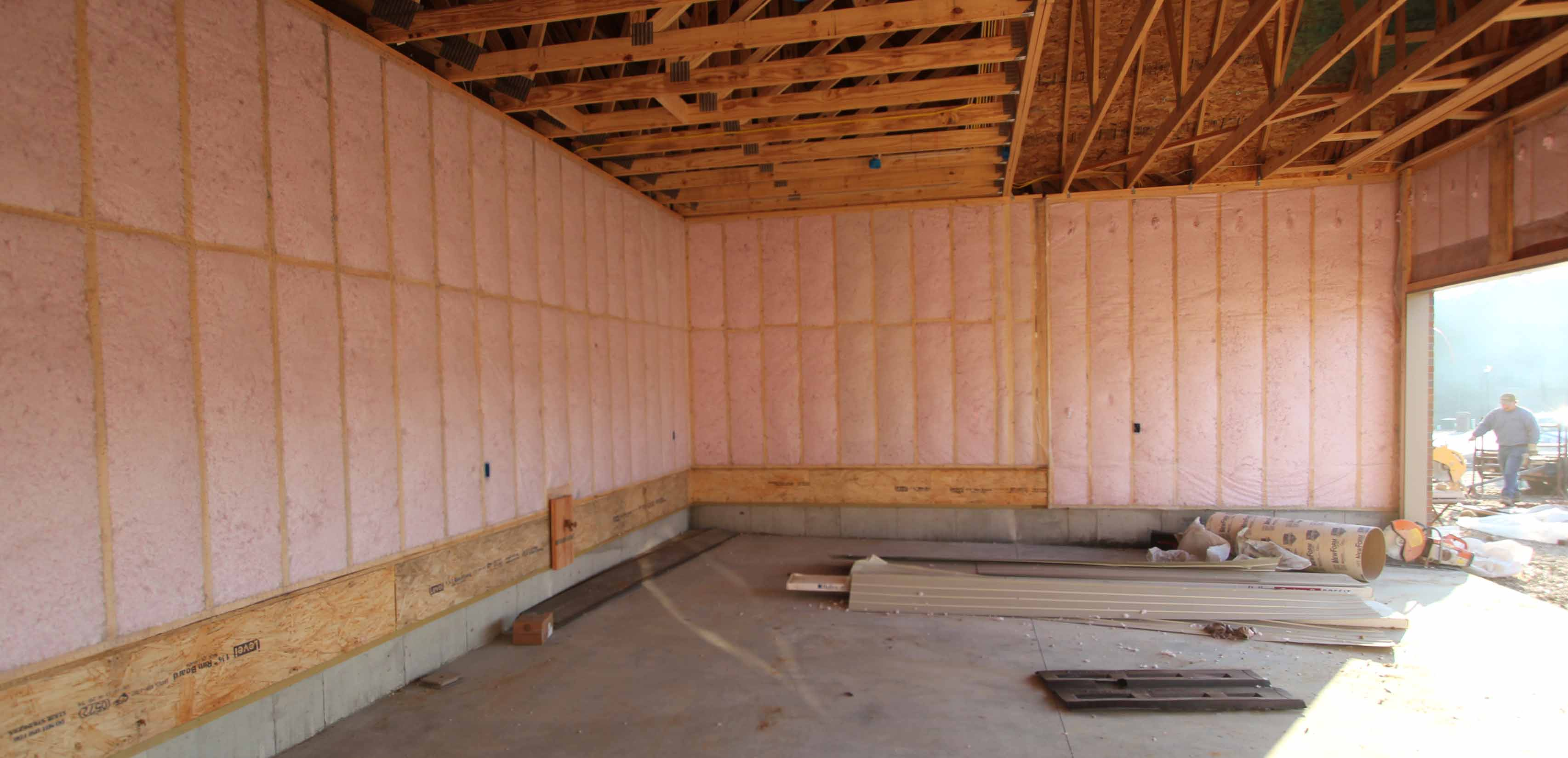 Foam engineers for high efficiency custom homes in for High density fiberglass batt insulation