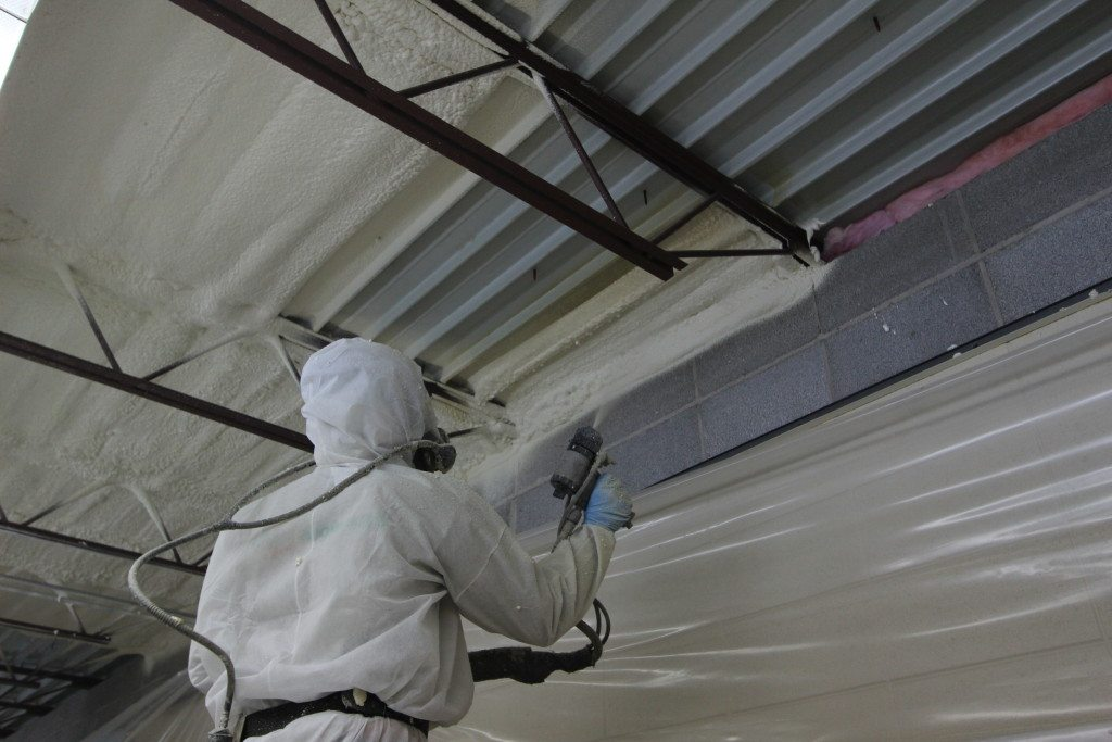 Closed Cell Spray Foam Insulation Under Metal Roof In