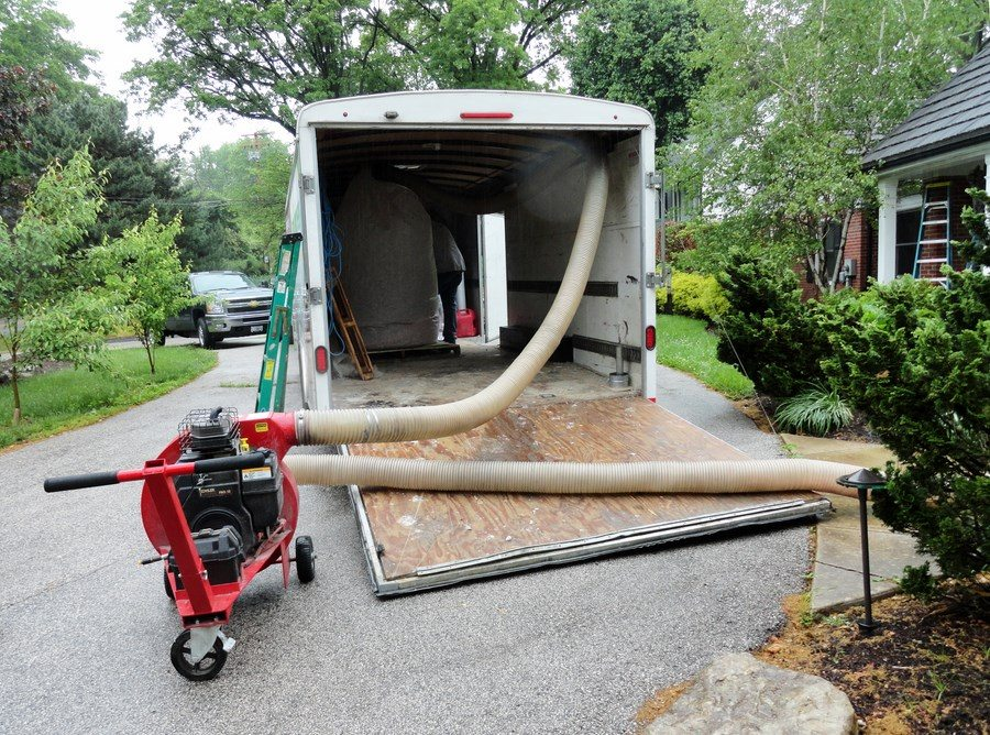 Foam Engineers Attic Insulation Removal Vacuum and Trailer