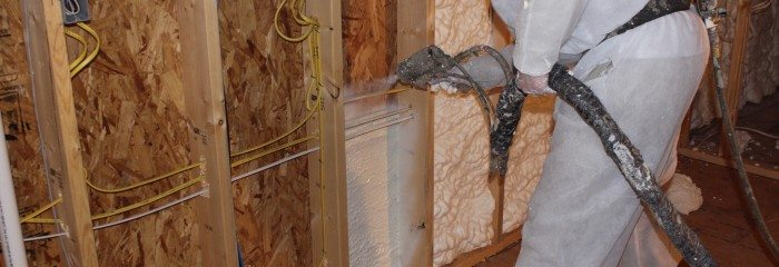 Spray Foam Insulation Applied Behind Wiring