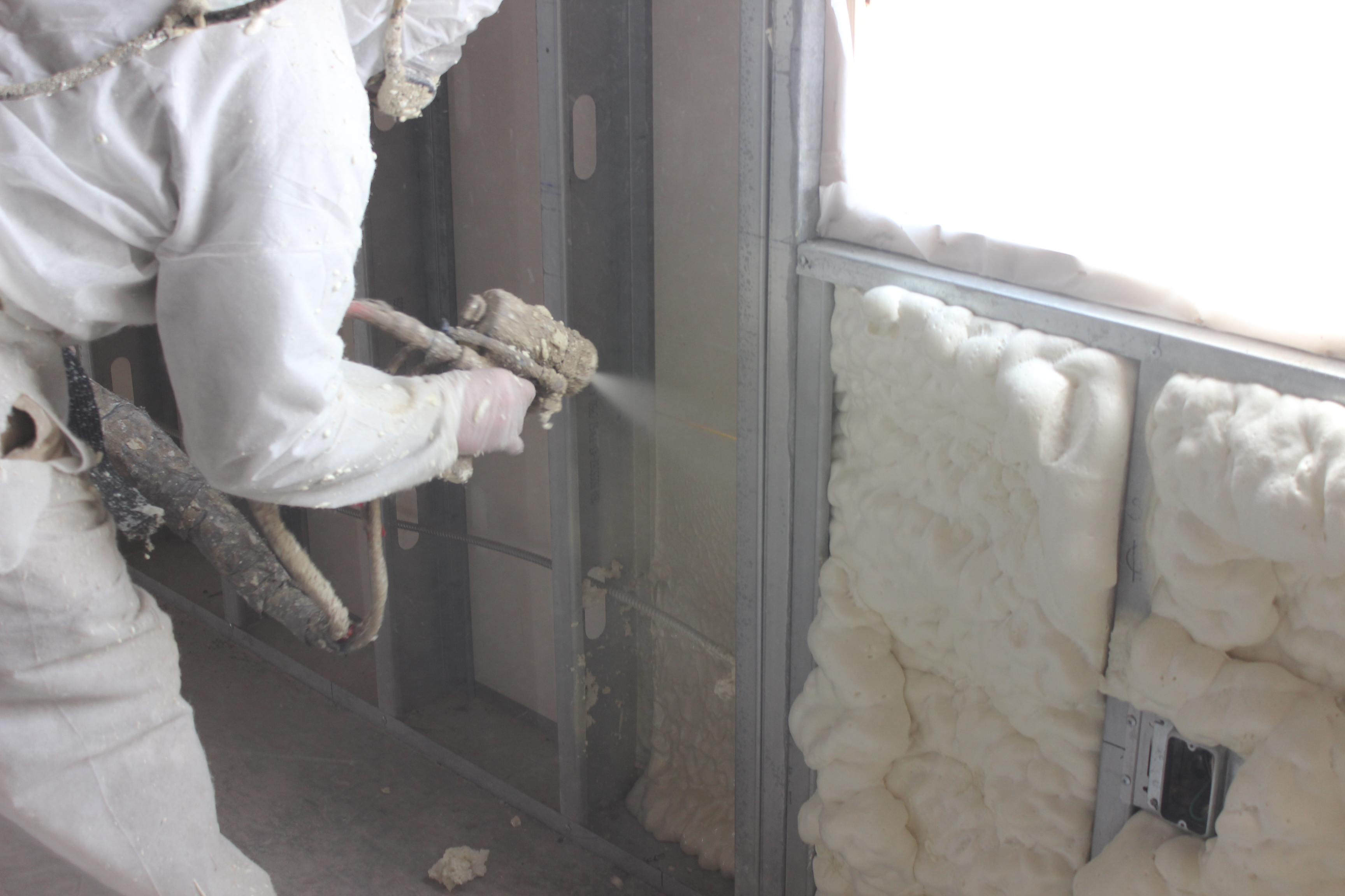 Open Cell Spray Foam To Metal Stud Wall In Hermann