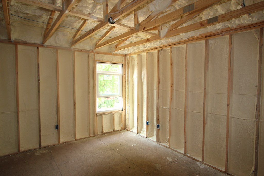 Walls Insulated with Closed Cell Spray Foam. Roof Sheathing Insulated with Open Cell Spray Foam.