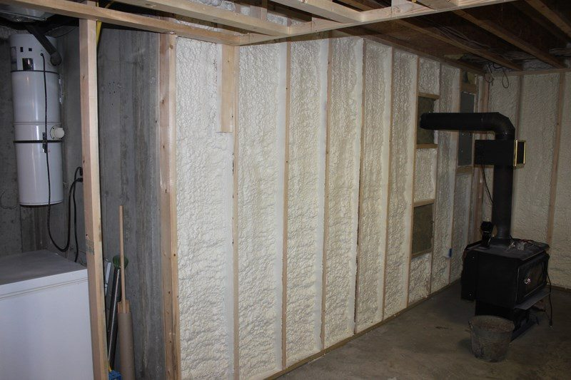 Insulate A Basement Wall With Closed Cell Spray Foam