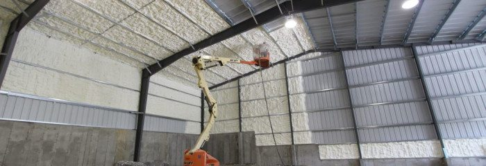 Open Cell Spray Foam for a Metal Building in Steelville, MO