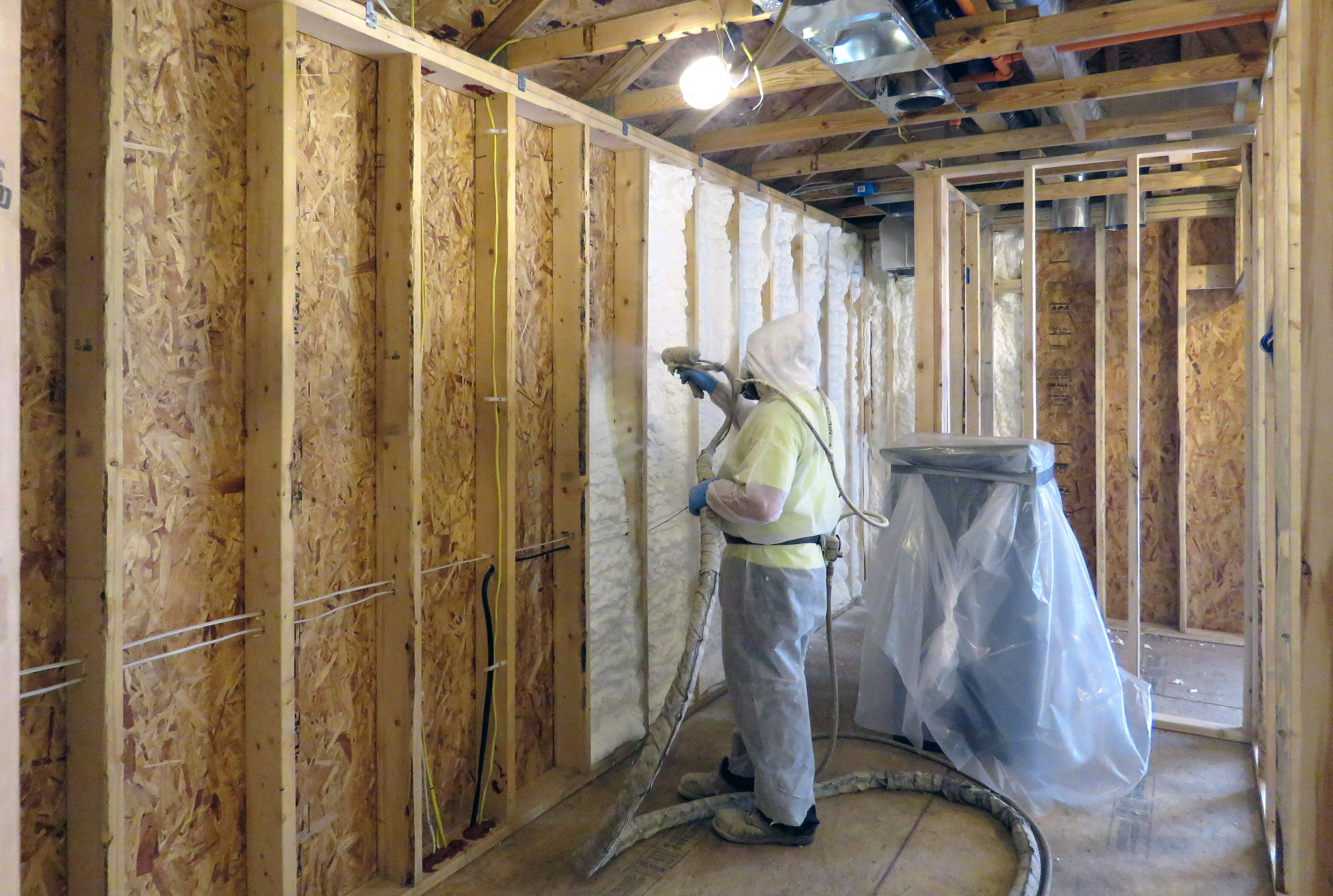 Home Addition With Open Cell Foam Insulation In Webster